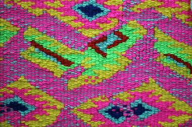 Cotton, seine twine, acrylic yarn, 160x110cm