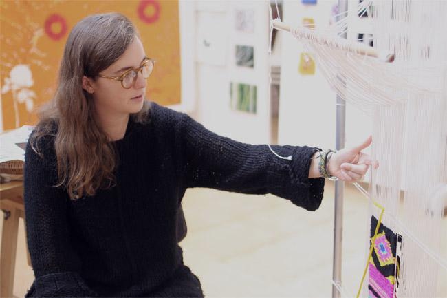 Nicole Breedon at the Australian Tapestry Workshop