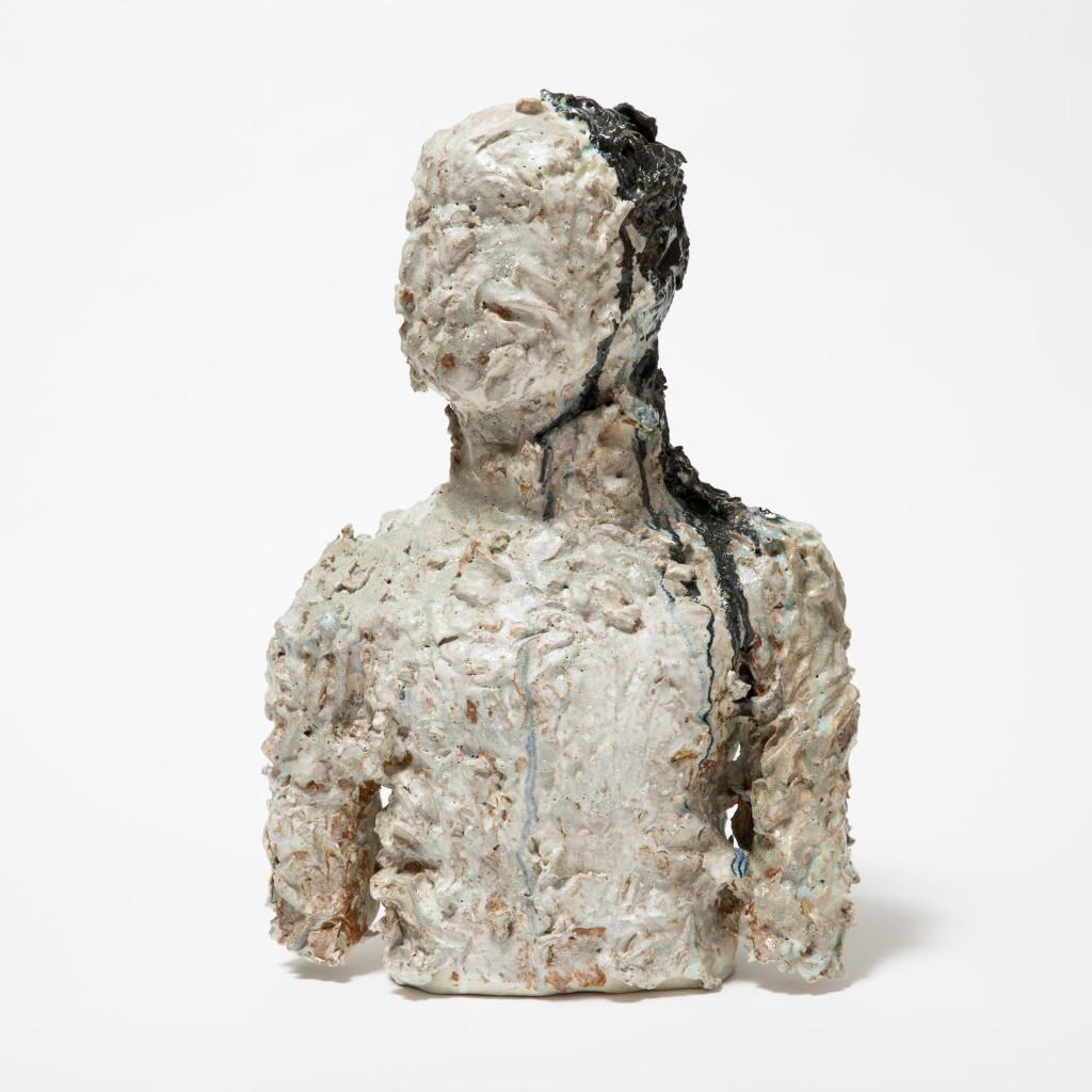 Pia Murphy, Untitled Figure, 2014, Glazed stoneware, H 50cm, W 35cm, D 18cm